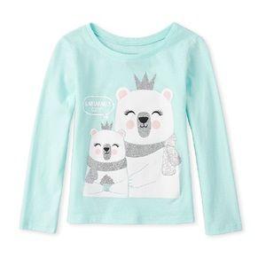 NWT Place Blue Bear Cute Long Sleeve Top 4T